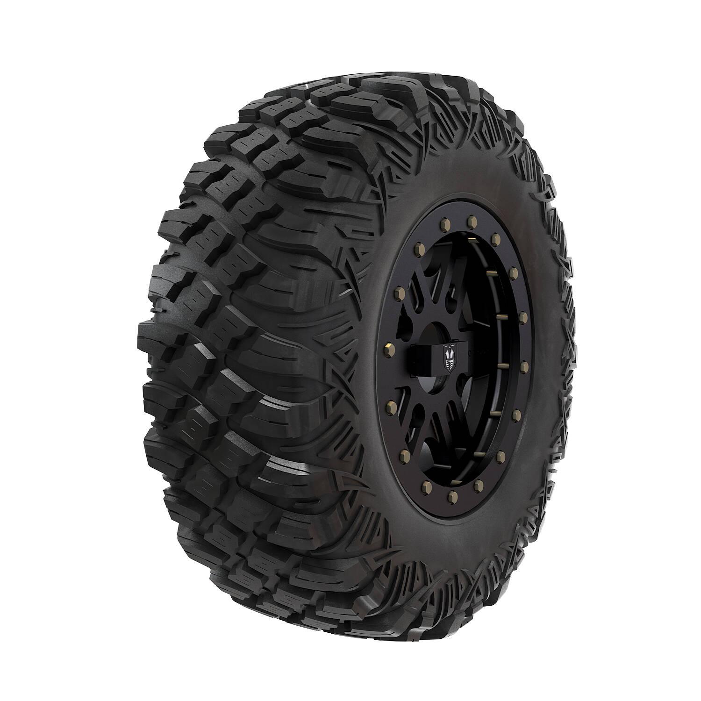 "Pro Armor® Wheel & Tire Set: Combat - Matte Black & Crawler XR - 28"""