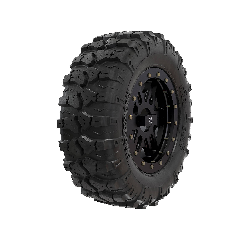 "Pro Armor® Wheel & Tire Set: Combat - Matte Black & Dual Threat 26"""