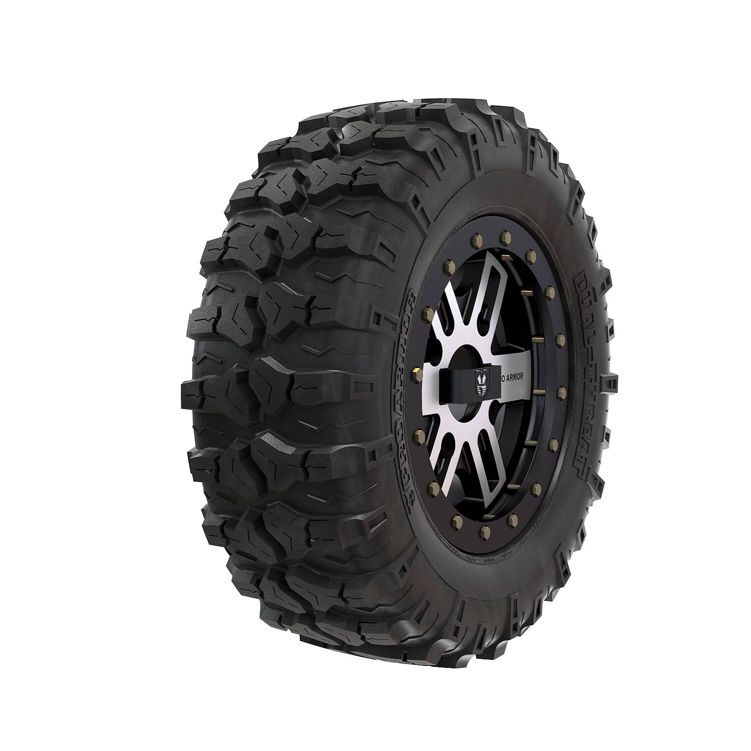 Pro Armor® Wheel & Tire Set: Combat - Accent & Dual Threat 26""