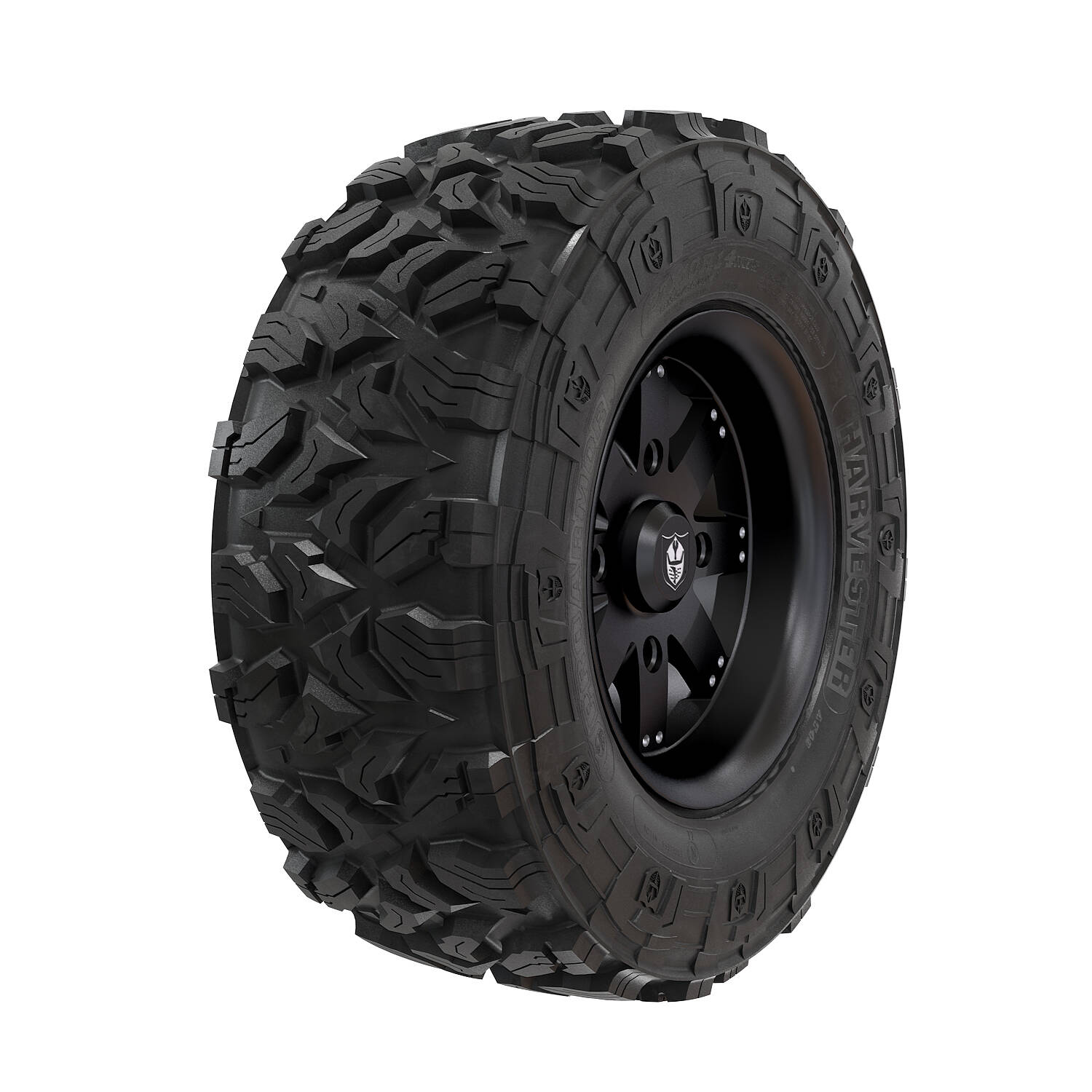 Wheel & Tire Set: Pro Armor Harvester® & Amplify - Matte Black - 28""