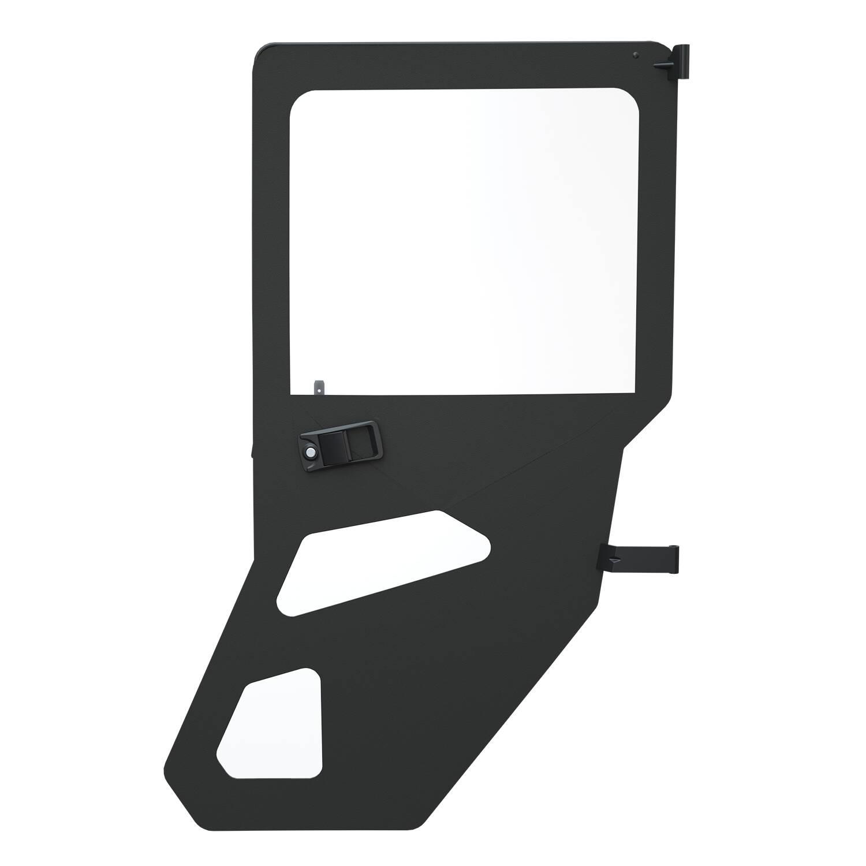 Zip Window Doors - Rear - Canvas - Black