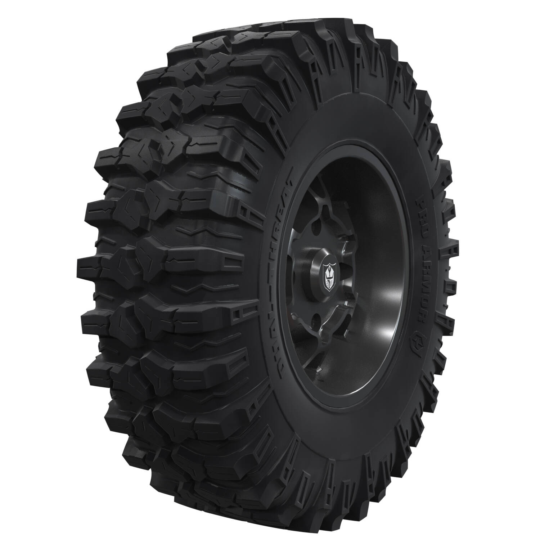 "Pro Armor® Wheel & Tire Set: Cyclone - Matte Black - 15"" & Dual-Threat 32"""