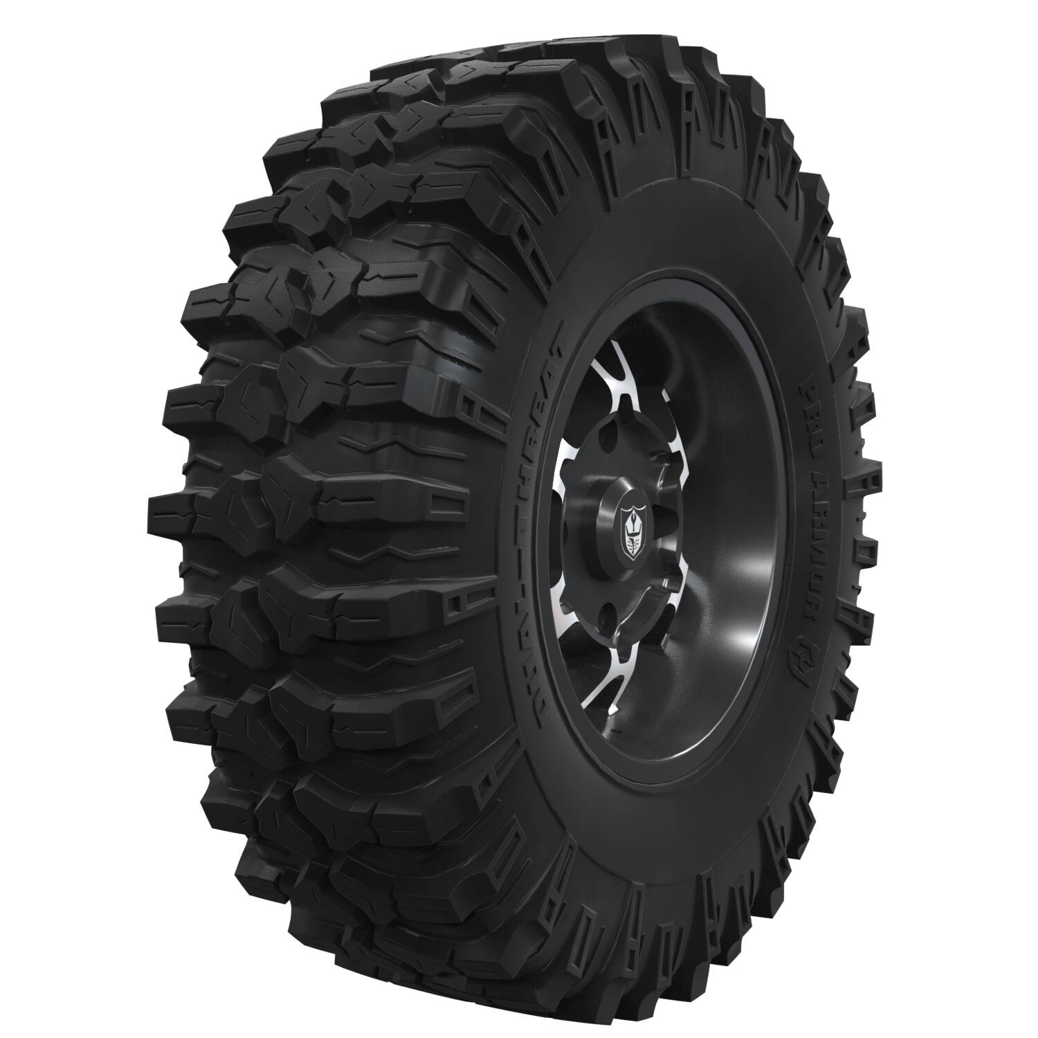 "Pro Armor® Wheel & Tire Set: Cyclone - Accent - 15"" & Dual-Threat 32"""