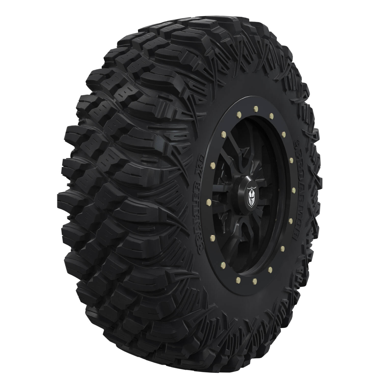 "Pro Armor® Wheel & Tire Set: Revolver - Matte Black - 16"" Beadlock & Crawler XG 32"""