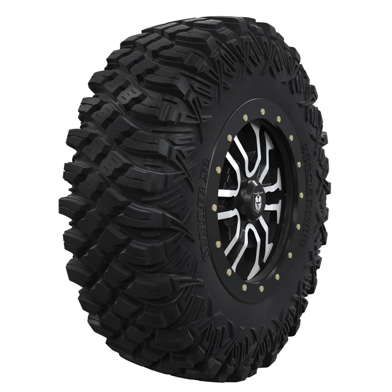 "Pro Armor® Wheel & Tire Set: Revolver - Accent - 16"" Beadlock & Crawler XG 32"""