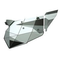 2 Seat Aluminum Door Graphics, White Pearl