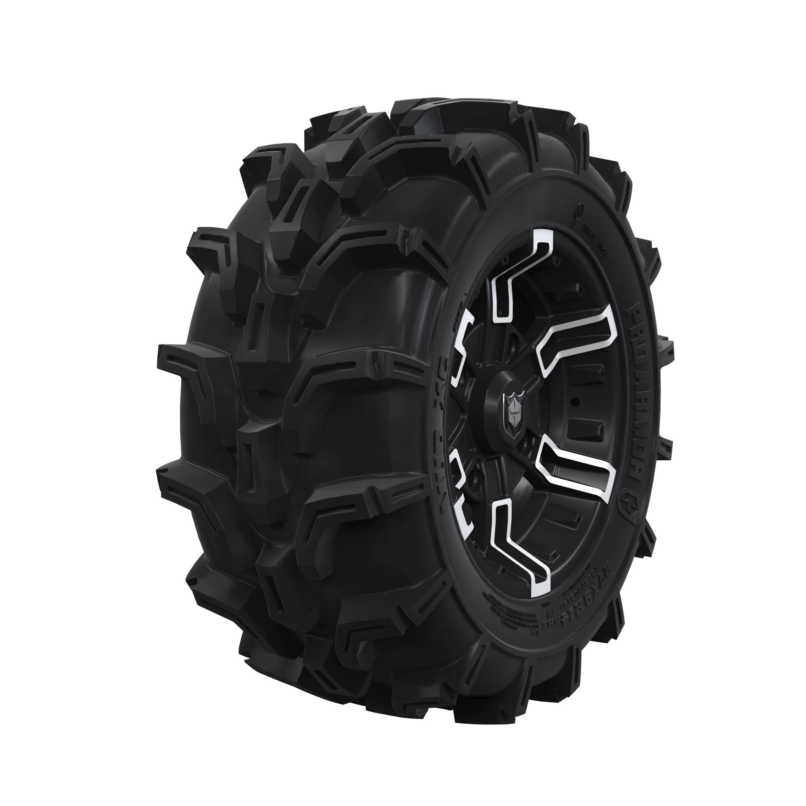 "Pro Amor® Wheel & Tire Set: Mud XC - Buckle - Accent - 27""R14"