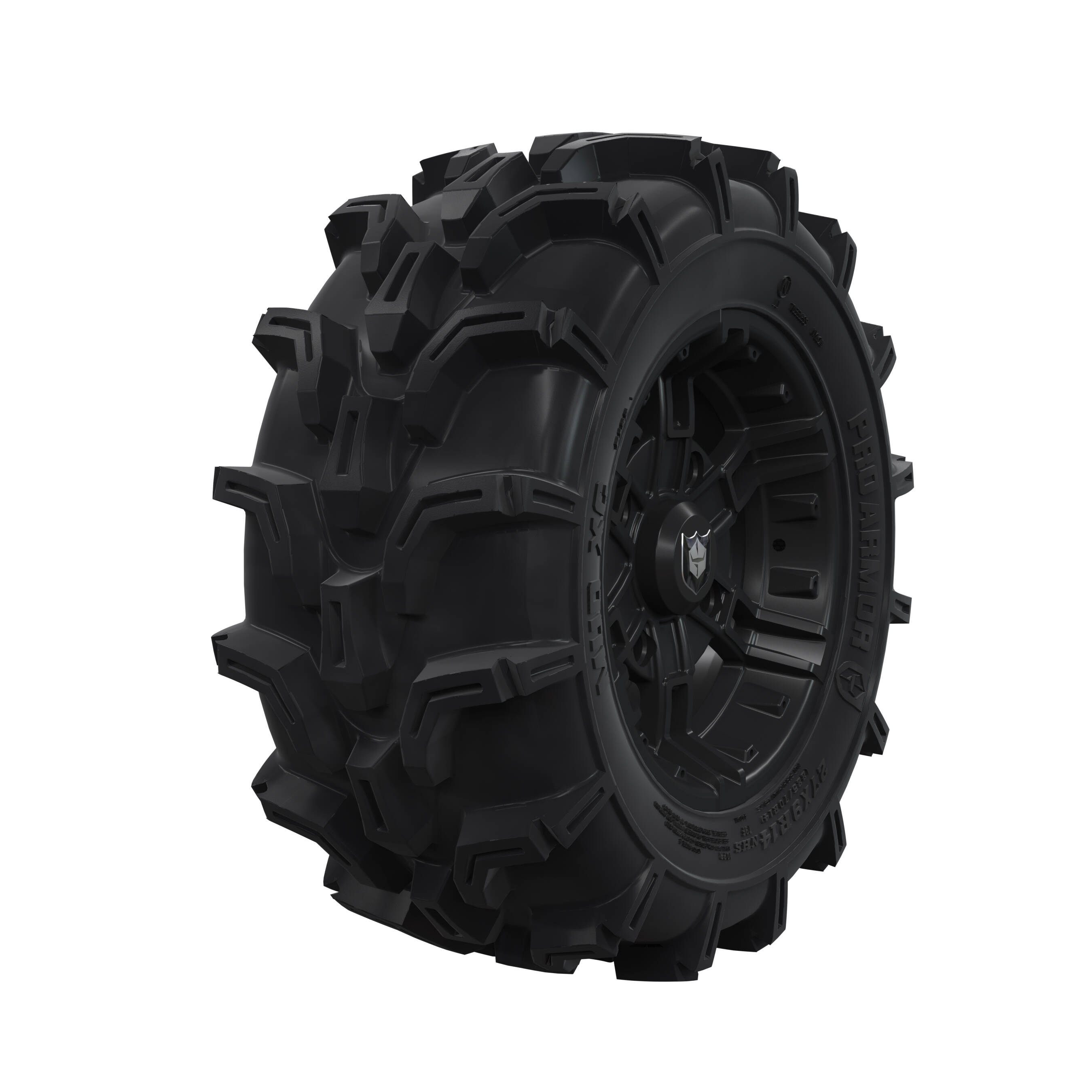 "Pro Amor® Wheel & Tire Set: Mud XC - Buckle - Matte Black - 27""R14"