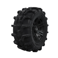 Pro Armor® Wheel & Tire Set: Sixr & Mud XC, Matte Black, 27R14