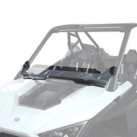 Lock & Ride ® Half Windshield - Hard Coat Poly, Low