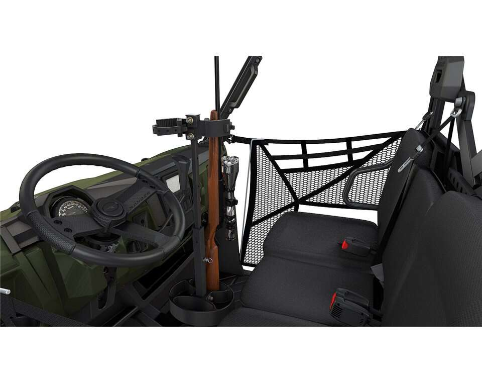Adjustable In-Cab Dual Gun Mount with Quick-Release Straps, Black