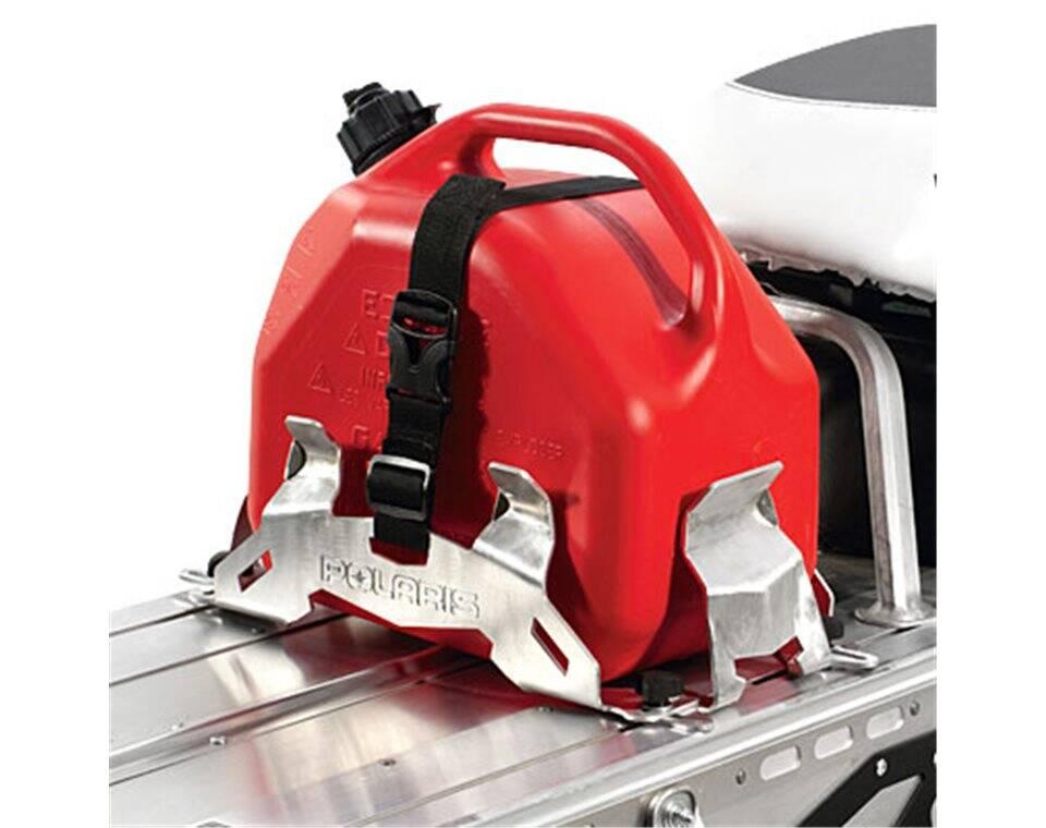 ... Snowmobile Aluminum Adjustable Fuel Can Rack | Polaris Snowmobiles