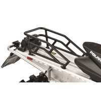 144 in. Rear Aluminum Cargo Rack, Black