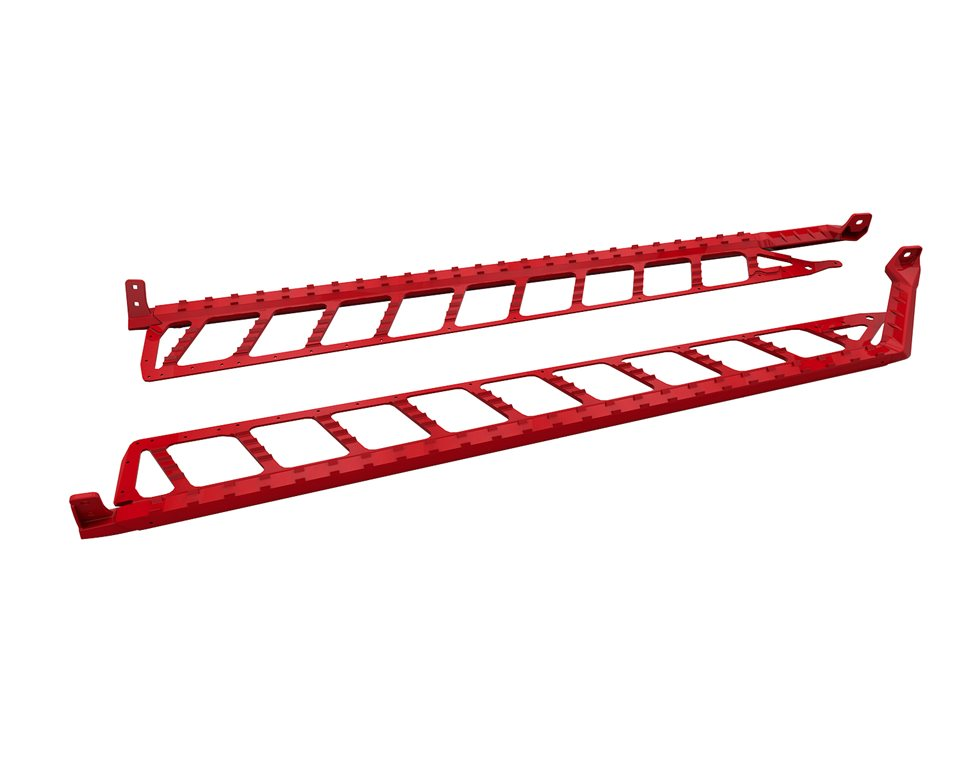 "Extreme Running Boards 174"" - Red"