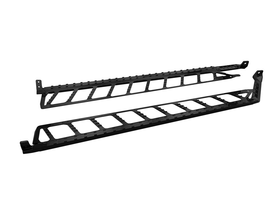 "Extreme Running Boards 174"" - Black"