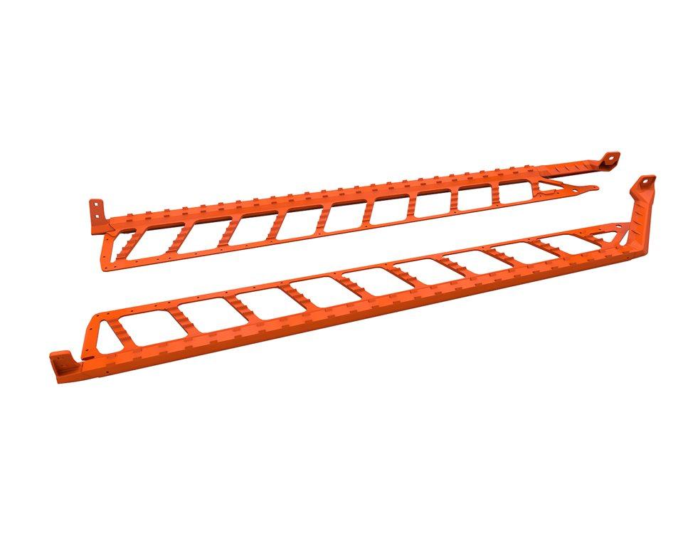 "Extreme Running Boards 174"" - Orange"