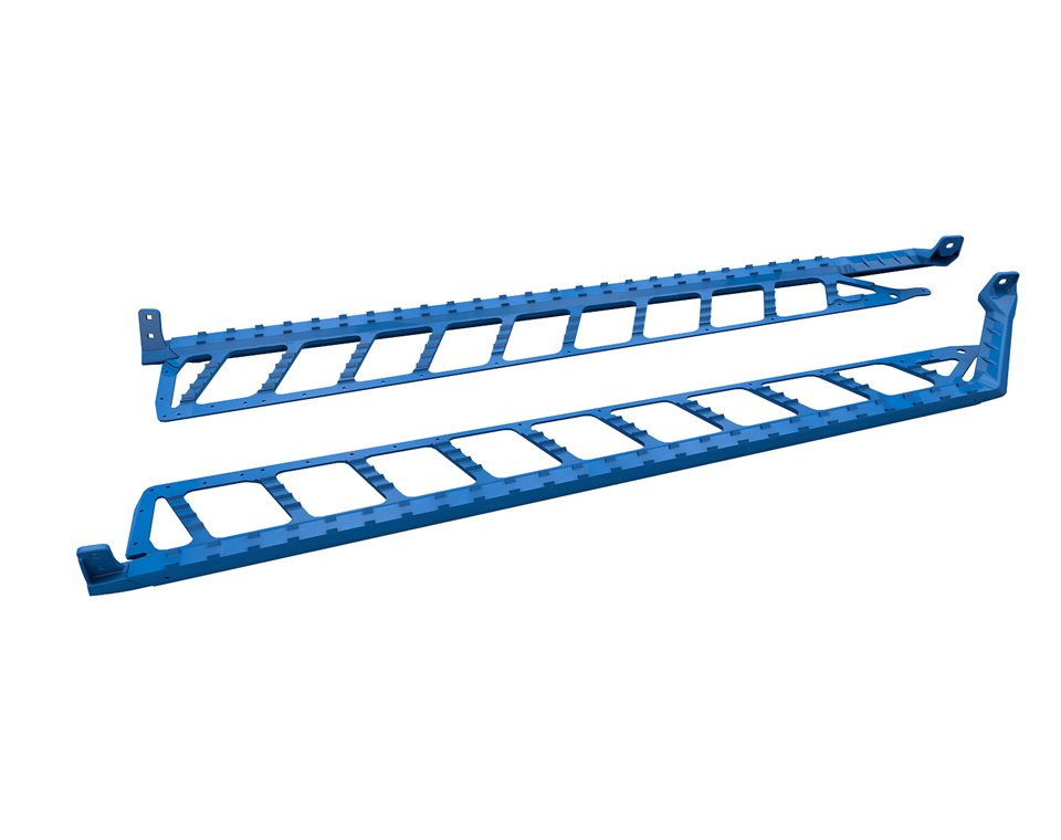 "Extreme Running Boards 174"" - Blue"