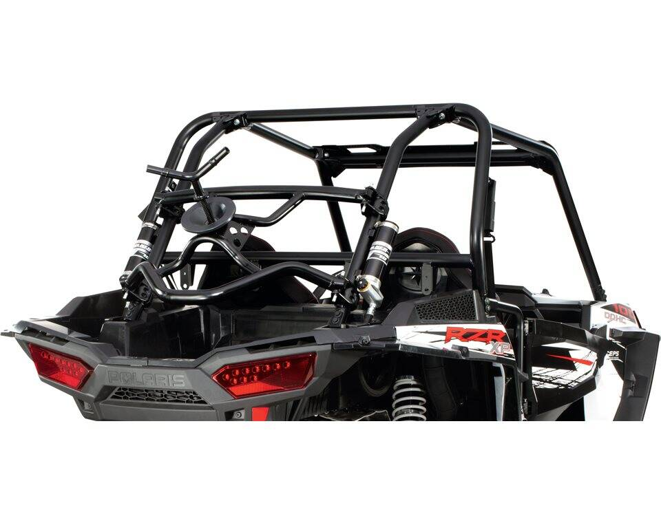 Rear Tire Holder Black Polaris Rzr