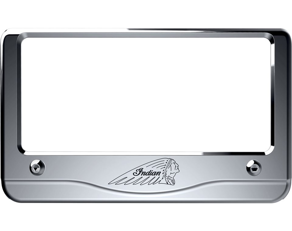 Headdress License Plate Frame - Chrome | Indian Motorcycle