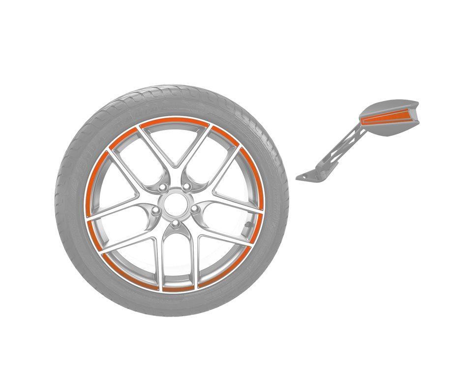 Rim & Mirror Decal Kit - Zion Orange