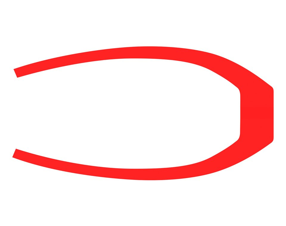 305MM Rear Fender Decal - Slingshot® Red Pearl