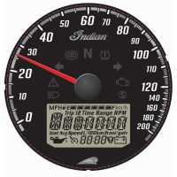 Black Dial Face Speedometer