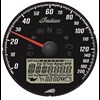 Speedometer Dial, Black with Chrome Bezel - Image 2 of 3