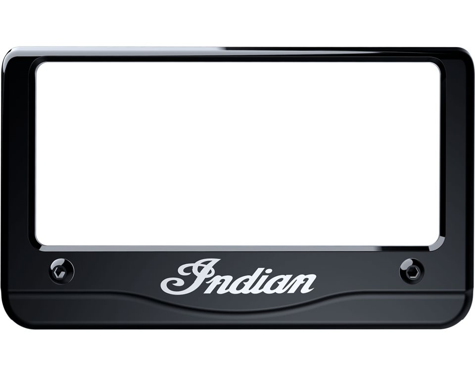 Indian® Script License Plate Frame - Gloss Black | Indian Motorcycle
