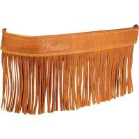 Leather Floorboard Trim w/ Fringe - Distressed Tan