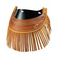 Front Mud Flap w/ Fringe - Distressed Tan