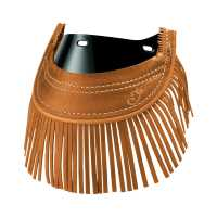 Genuine Leather Indian® Chief® Front Mud Flap With Fringe – Desert Tan