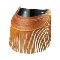 Rear Mud Flap with Fringe - Distressed Tan