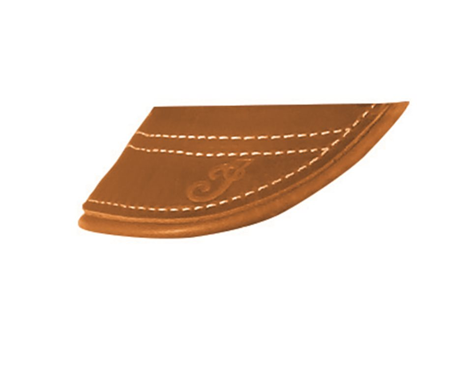 Genuine Leather Front Mud Flap With Fringe - Black
