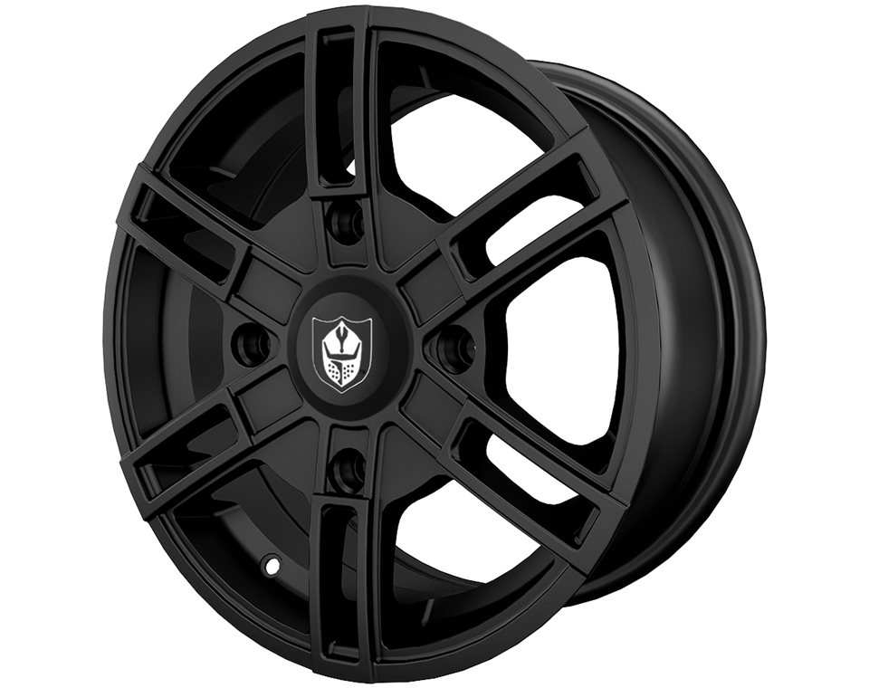 Pro Armor® Wyde Wheel, Matte Black Front/Rear R15