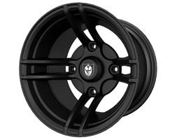 Pro Armor® WhiteOut Wheel, Matte Black Front/Rear R14