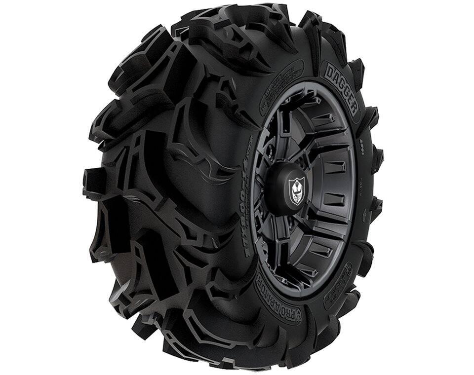 Wheel & Tire Set: Pro Armor® Dagger & Buckle- Matte Black