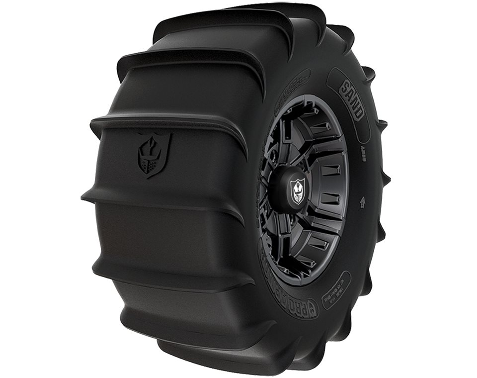 Wheel & Tire Set: Pro Armor® Sand & Buckle- Matte Black
