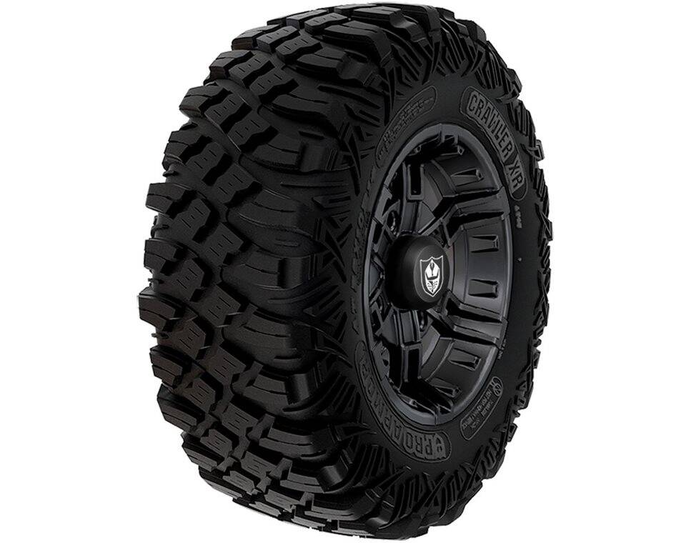 Wheel & Tire Set: Pro Armor® Crawler XR & Buckle- Matte Black