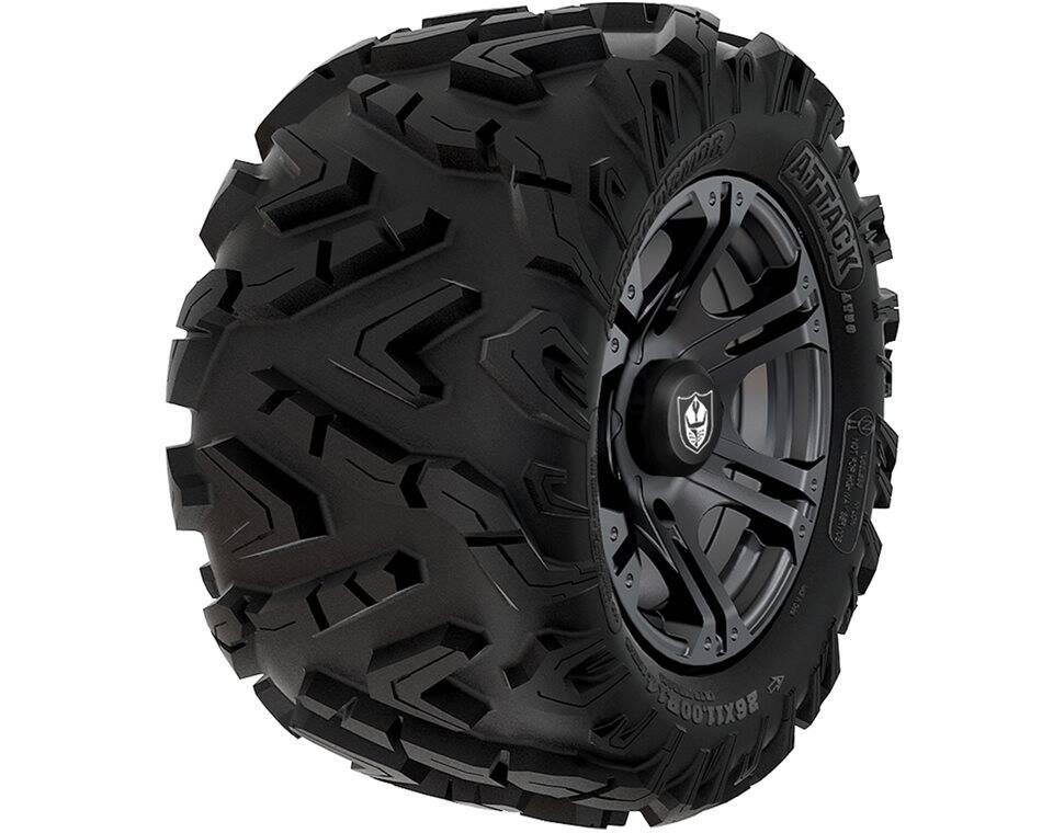 Pro Armor® Wheel & Tire Set: Sixr & Attack, Matte Black, 26R14