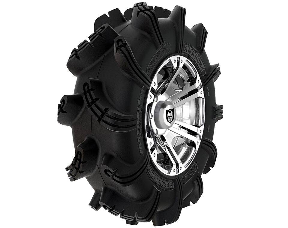 Wheel & Tire Set: Pro Armor® Anarchy & Sixr- Luster