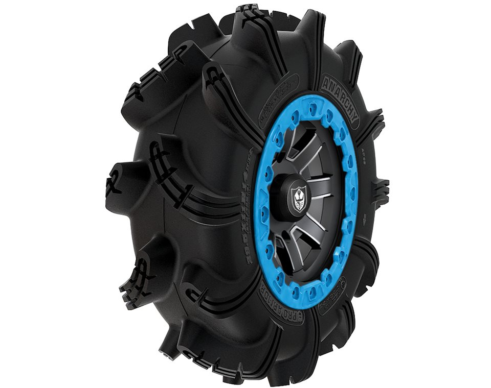 Wheel & Tire Set: Pro Armor® Anarchy & Reblr- Matte Black