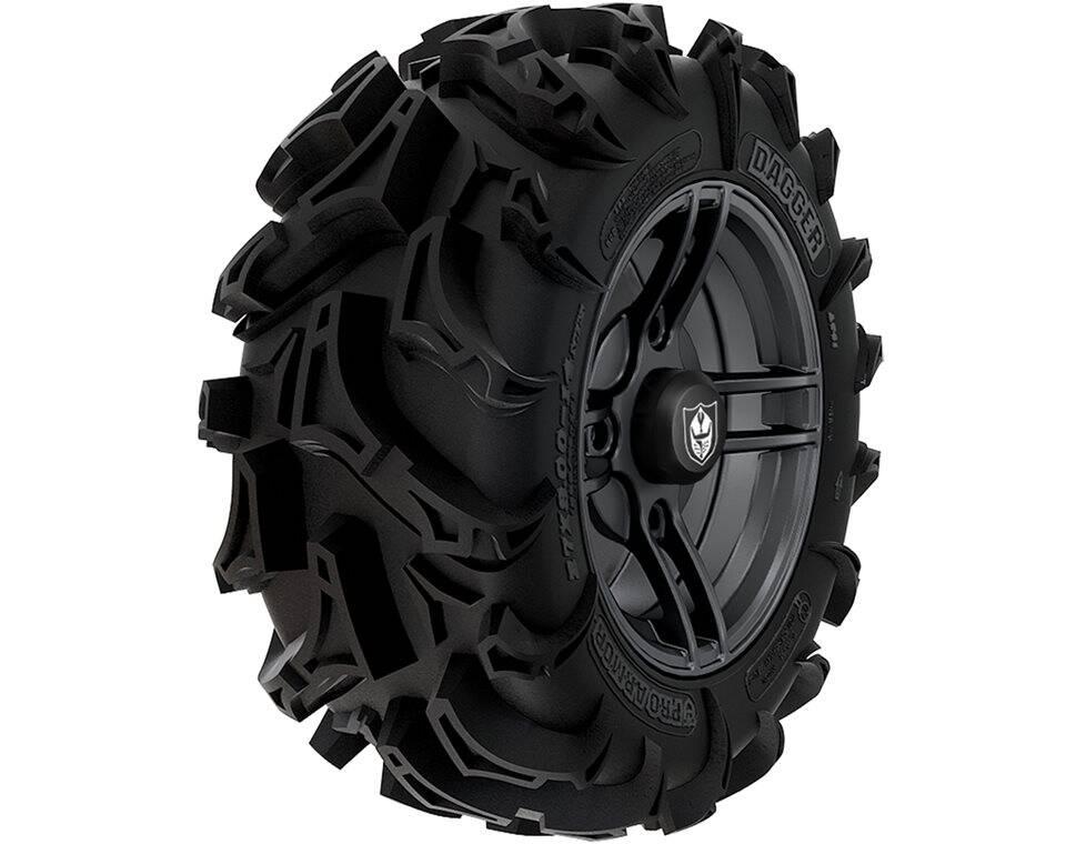 Wheel & Tire Set: Pro Armor® Dagger & Split- Matte Black