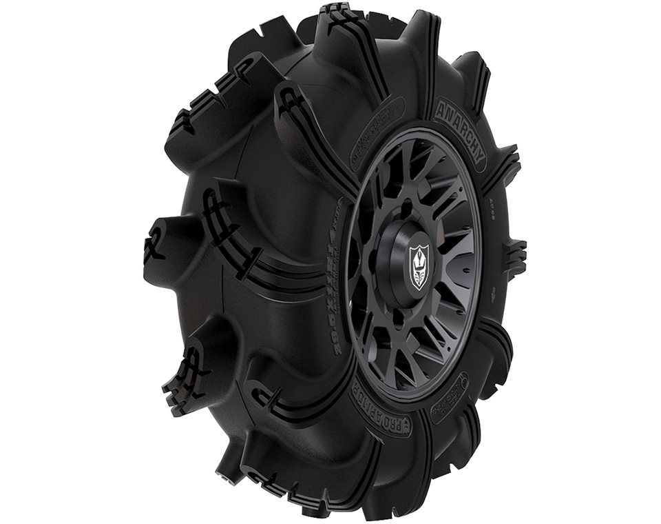 Wheel & Tire Set: Pro Armor® Anarchy & Thrasher- Matte Black