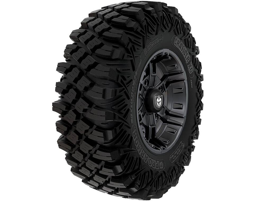 Wheel & Tire Set: Pro Armor® Crawler XG & Buckle- Matte Black