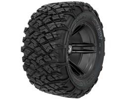 Pro Armor® Wheel & Tire Set: WhiteOut, Matte Black, 30R15