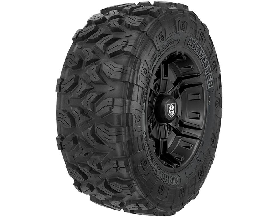 Pro Armor® Wheel & Tire Set: Buckle & Harvester®, Matte Black, 27R14