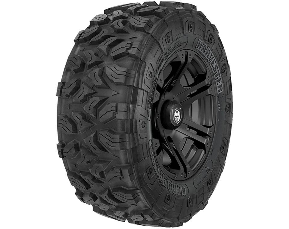 Pro Armor® Wheel & Tire Set: Sixr & Harvester®, Matte Black, 27R14