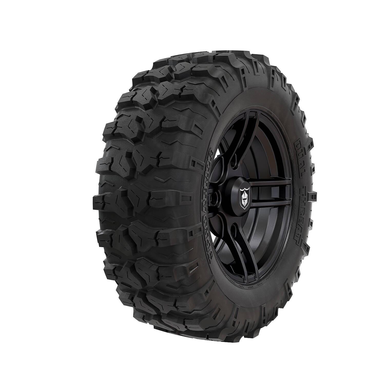 Pro Armor® Wheel & Tire Set: Split - Matte Black & Dual-Threat