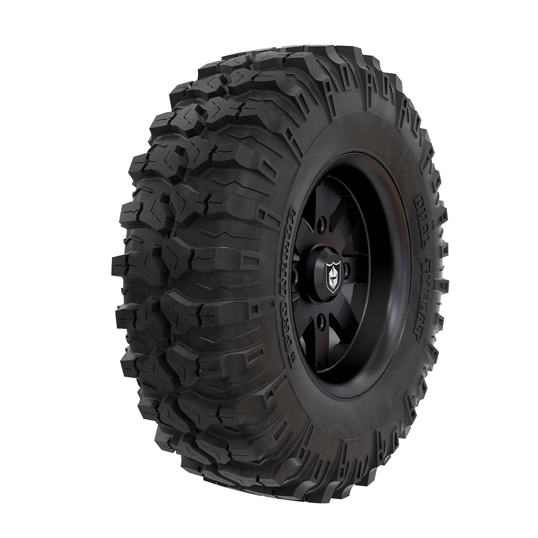 Pro Armor® Wheel & Tire Set: Amplify - Matte Black & Dual-Threat