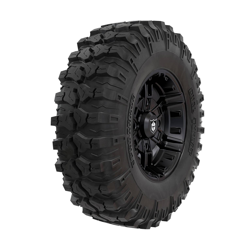 Pro Armor® Wheel & Tire Set: Buckle - Matte Black & Dual-Threat